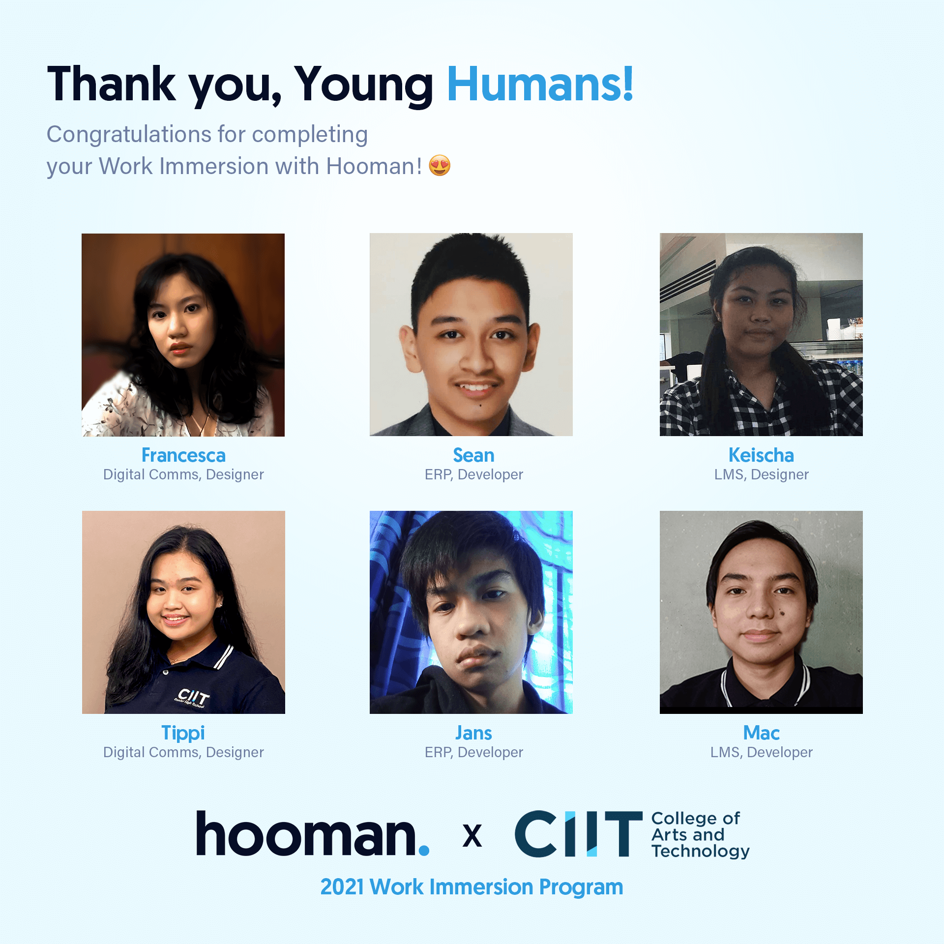 CIIT Partners with Hooman for Work Immersion 2021 1