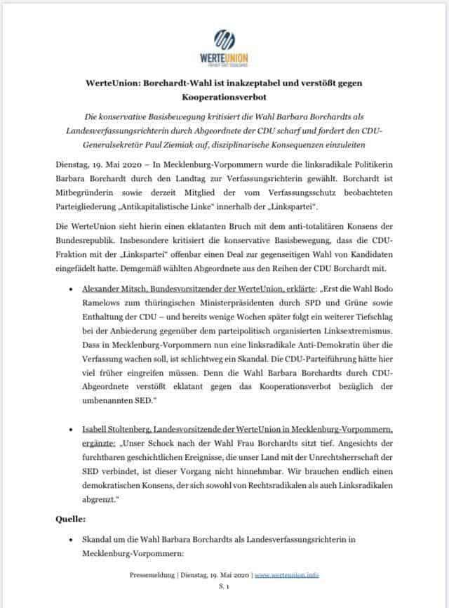 Barbara Borchardt zur Richterin am Landesverfassungsgericht gewählt