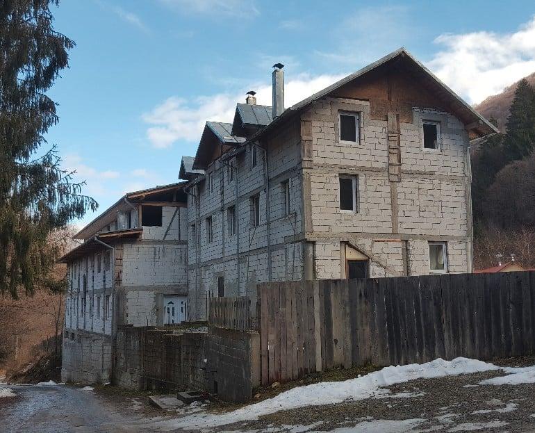 Rohbau des neuen Klosterkomplexes