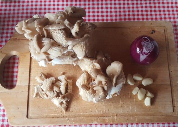 Die Grundzutaten für Ciorbă de ciuperci Pleurotus