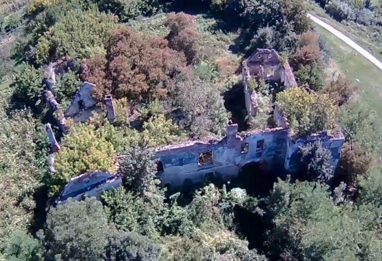 Luftbild Castelul familiei Bolyai (c) 2021 Împuşcătura