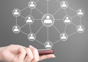 Image depicting business network