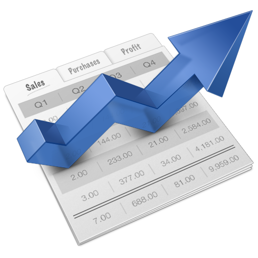 Financial growth graph icon