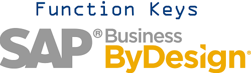 SAP Business By Design - Function Keys