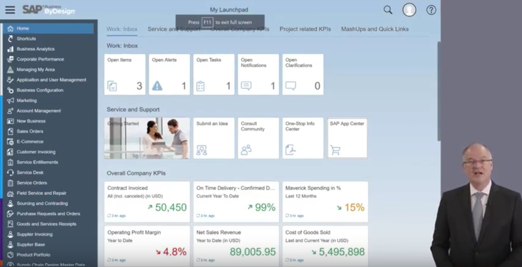 New HTML5-Based Interface for SAP Business ByDesign