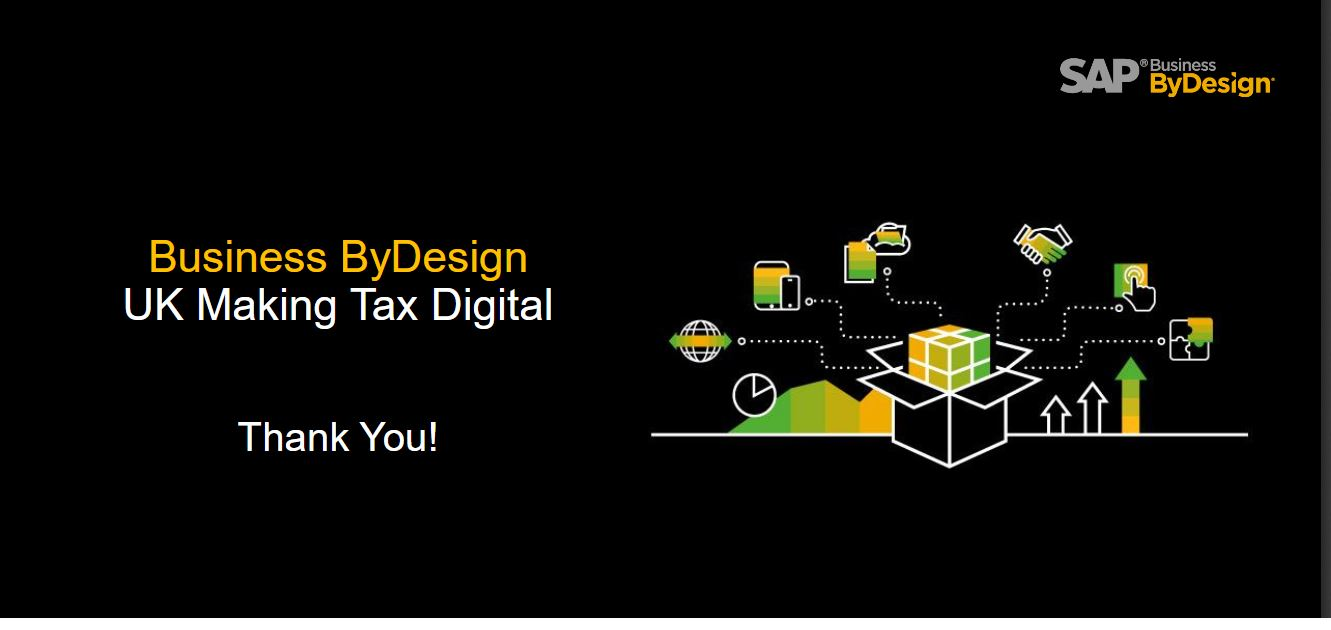 Making Tax Digital for SAP Business ByDesign