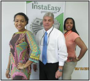 L-R: Monica M. (General Manager), John W. (Store Manager), and Joy L. (Customer Service Rep)