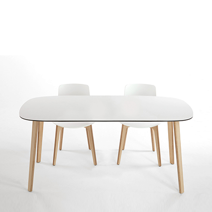 Enea's  Lottus Wood Table 900 by Lievore Alther Molina