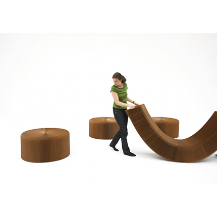 molo's  fanning stool by Stephanie Forsythe and Todd MacAllen