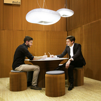 molo's  cantilever table by Stephanie Forsythe and Todd MacAllen