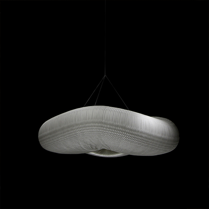 molo's  medium cloud pendant by Stephanie Forsythe and Todd MacAllen