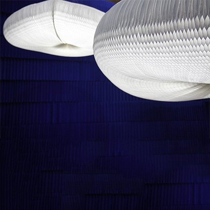 molo's  large cloud pendant by Stephanie Forsythe and Todd MacAllen