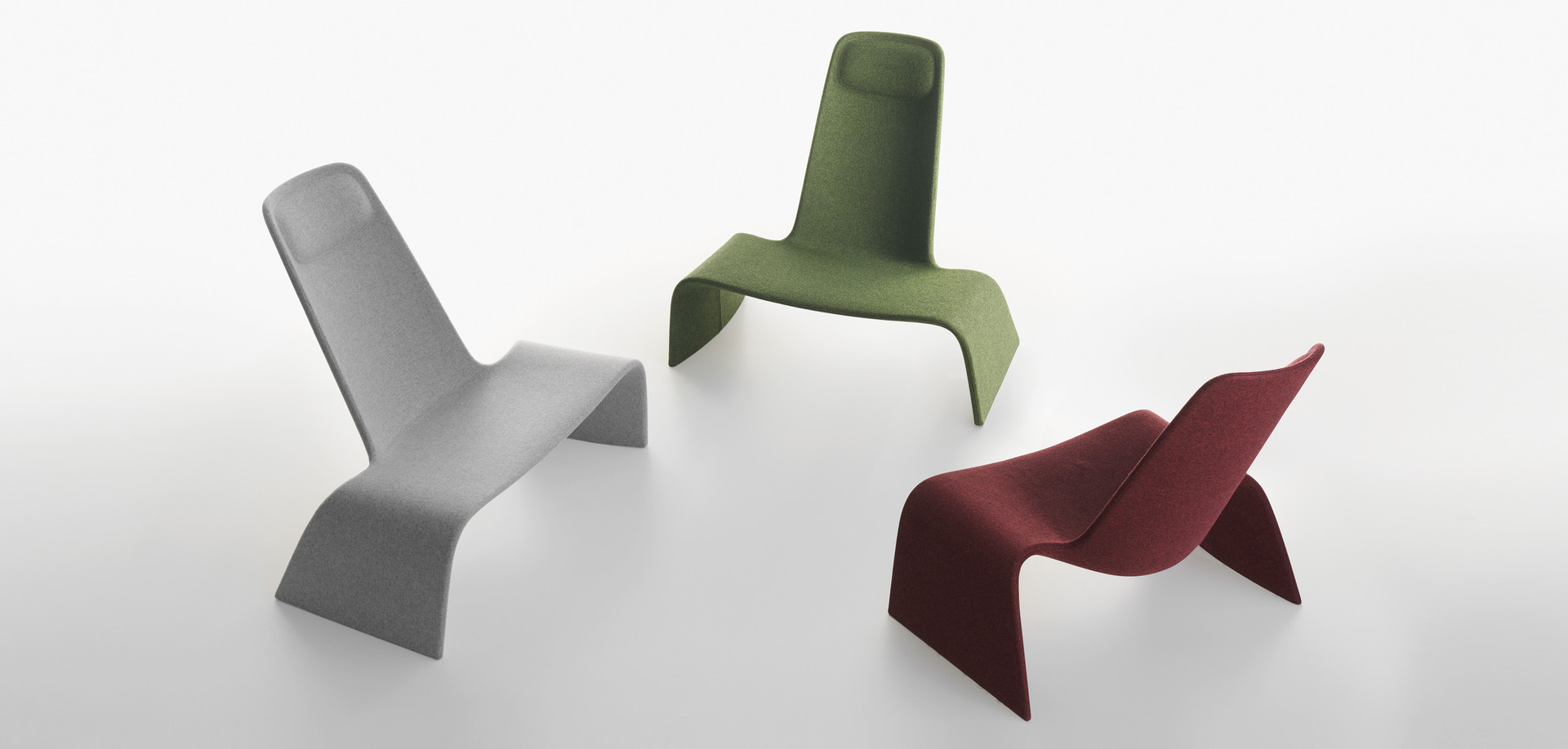 Plank's  Land Lounge Chair (Upholstered) by Naoto Fukasawa