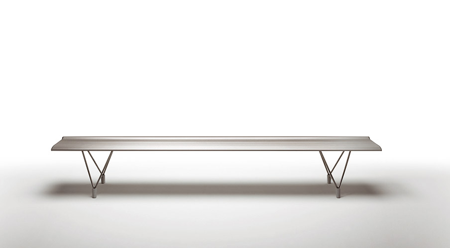 Sellex's  AERO Backless Bench Selfstanding by Lievore Altherr Molina