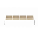 Sellex's  BILDU 4 Wooden Seaters Bench by Mario Ruiz