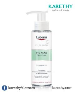 Eucerin Pro ACNE Solution Cleansing Gel: Gel Rửa Mặt Da Mụn (200 ml)