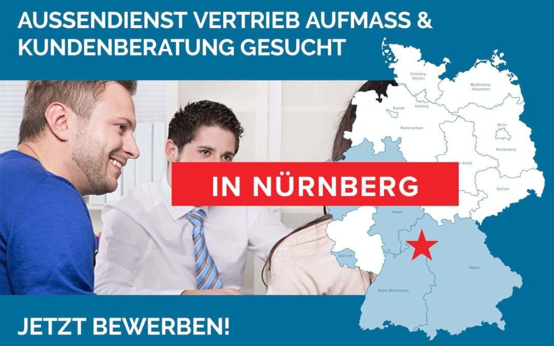 Stellenangebot: AUSSENDIENST. VERTRIEB. KUNDENBERATUNG – Nürnberg