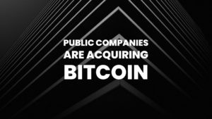 Public Companies are Starting To Acquire Bitcoin