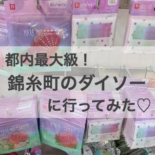 都心の店舗とは大違いで歓喜!都内最大級の錦糸町ダイソーに行ってきた!