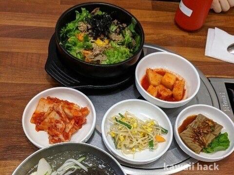 韓国のランチ