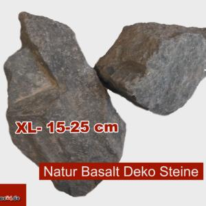 XL Basalt Steine Aquarium Deko anthrazit 15-25 cm