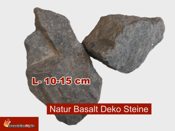 Basalt Steine Aquarium Deko anthrazit 10-15 cm