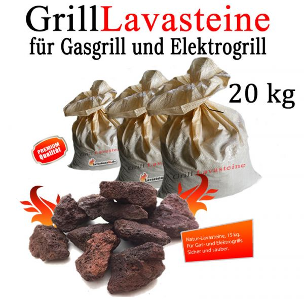 20 kg Grill Lavasteine für Gasgrill -Elektrogrill