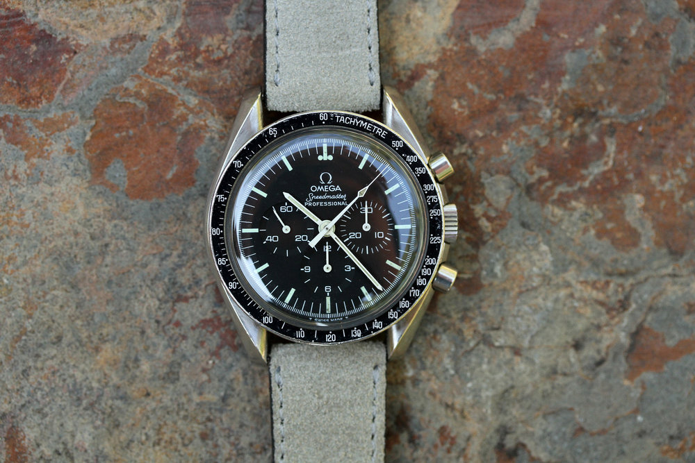SOLD 1969 18kt Gold Omega Speedmaster Apollo XI BA 145.022 on Bracelet