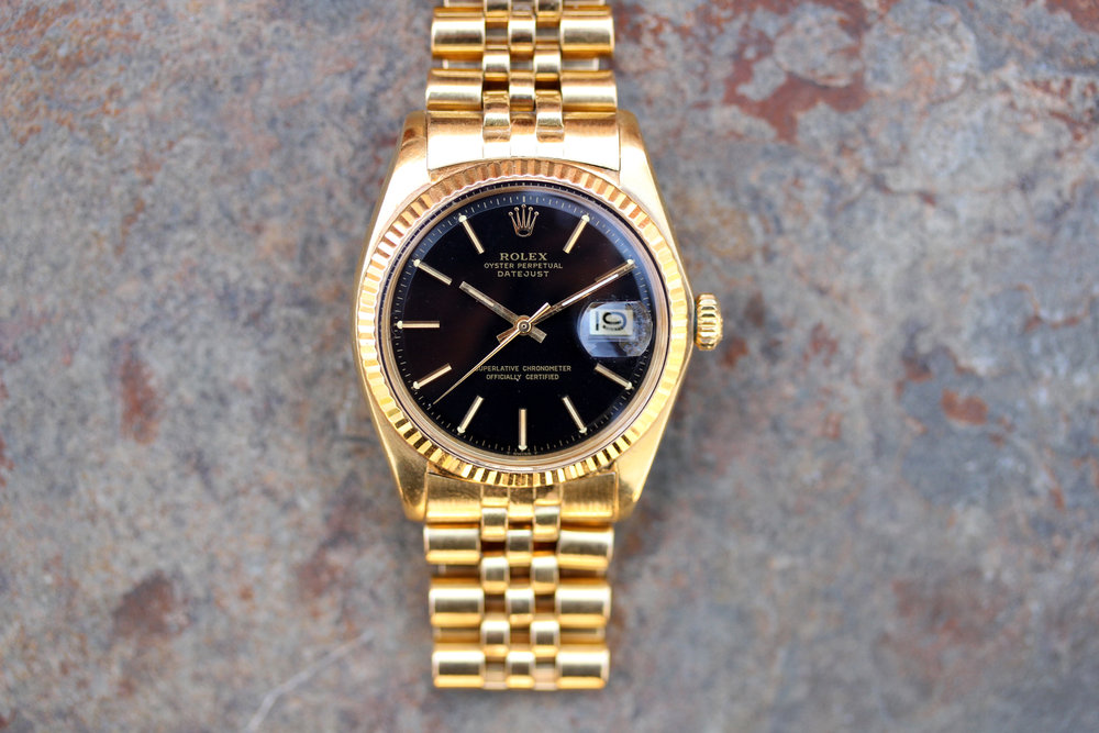 1974 Rolex DateJust ref. 1601 Solid 18kt Yellow Gold