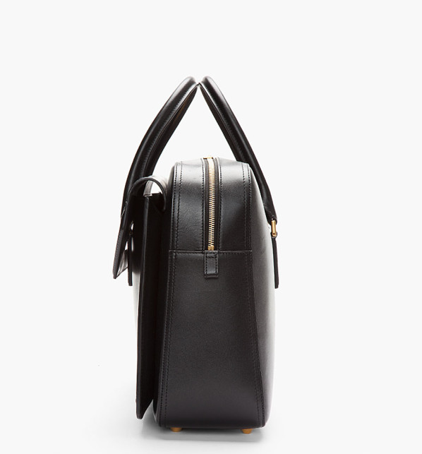 Alexander McQueen - Black Leather Heroine Laptop Briefcase 2