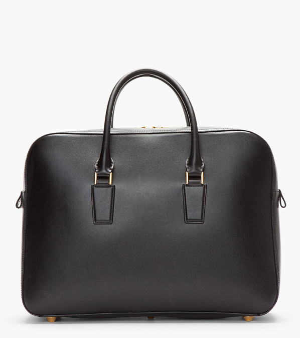 Alexander McQueen - Black Leather Heroine Laptop Briefcase 3