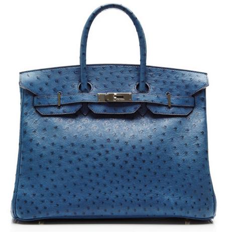 Hermès Heritage - Blue Roi Ostrich Birkin 2