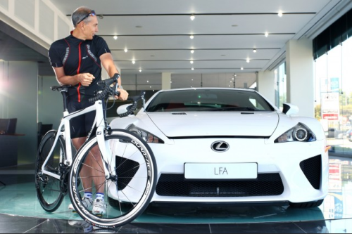 Lexus bicycle and LFA