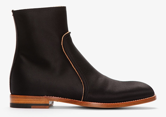Maison Martin Margiela Black Satin Boots 1
