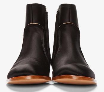 Maison Martin Margiela Black Satin Boots 2
