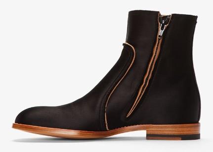 Maison Martin Margiela Black Satin Boots 3