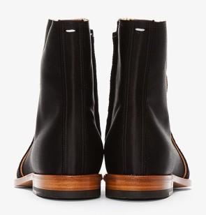 Maison Martin Margiela Black Satin Boots 4