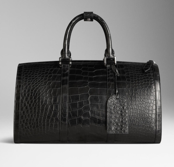 Burberry - Polished Alligator Leather Holdall