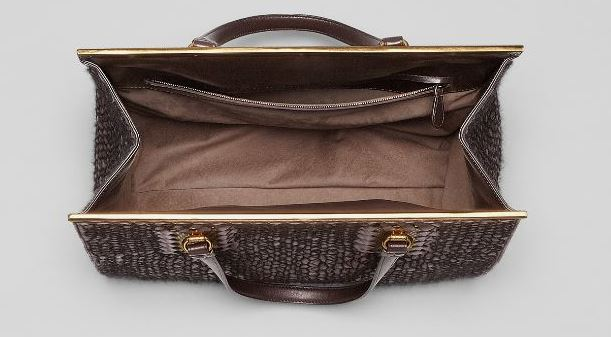 Bottega Veneta - Ebano Nero Intreccio Tricot Wool Bag 2