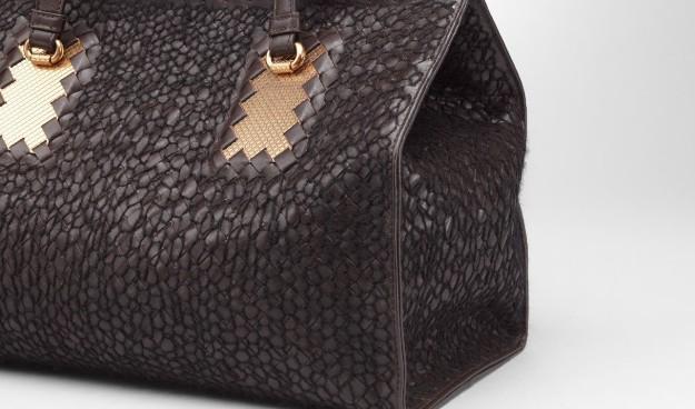 Bottega Veneta - Ebano Nero Intreccio Tricot Wool Bag 4