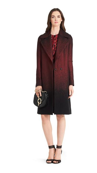 DVF - Nala Printed Wool coat 3