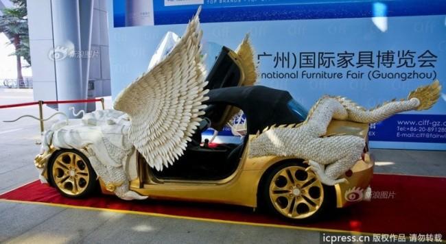 Gold BMW Z4 With Dragon - 2