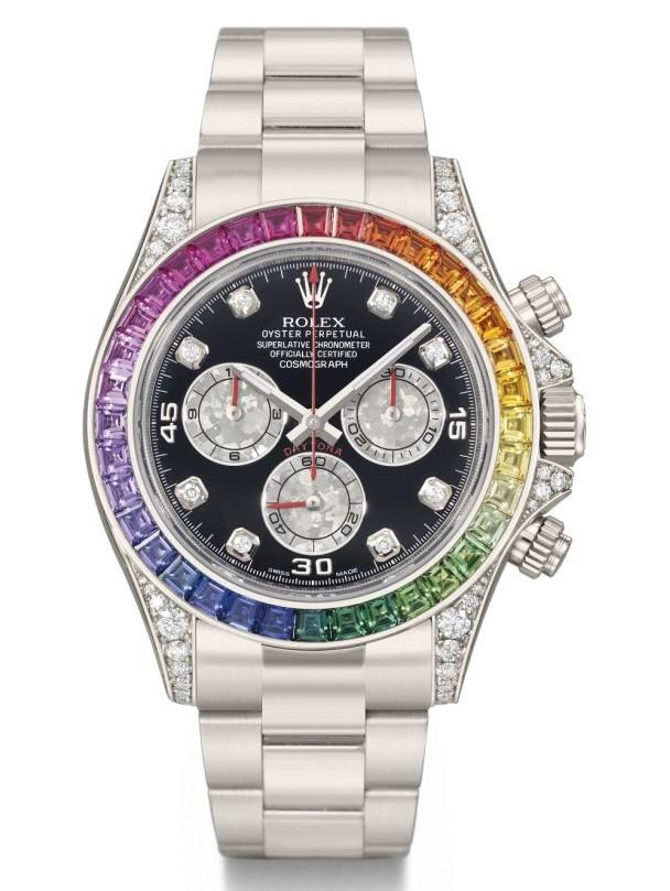 Rolex Daytona - White rainbow