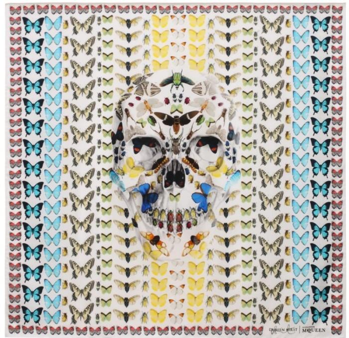 Alexander McQueen Skull Scarf - The Forgiveness Skull Butterfly