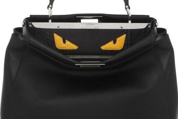 e5ad6869ad Fendi Peekaboo Bag With Menacing Crocodile Eyes - Lux Pursuits