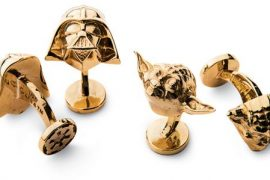 Darth Vader and Yoda Gold Cufflinks