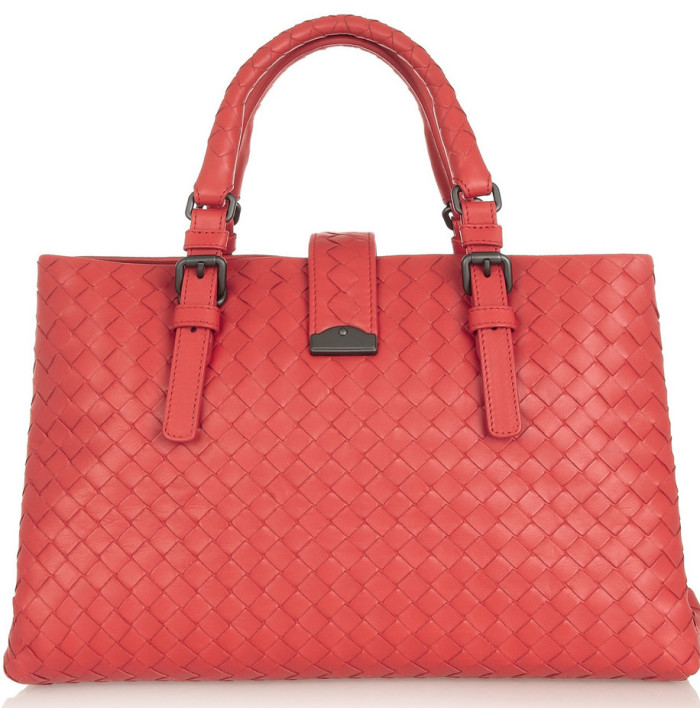 Bottega Veneta Roma small intrecciato leather tote 2