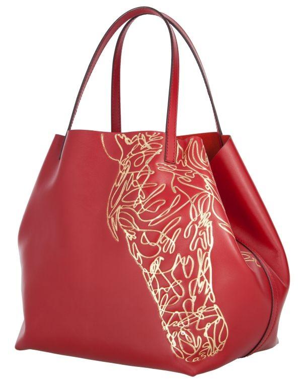 Carolina Herrera Matryoshka Bag with Horse Print 2