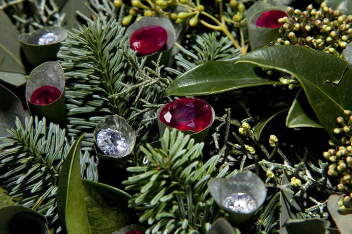 Diamond Studded Christmas wreath - 3