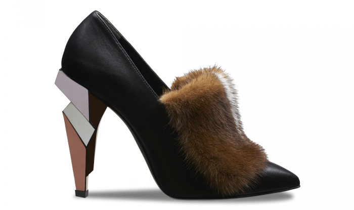 Fendi Booties - Pointed toe with mink fur